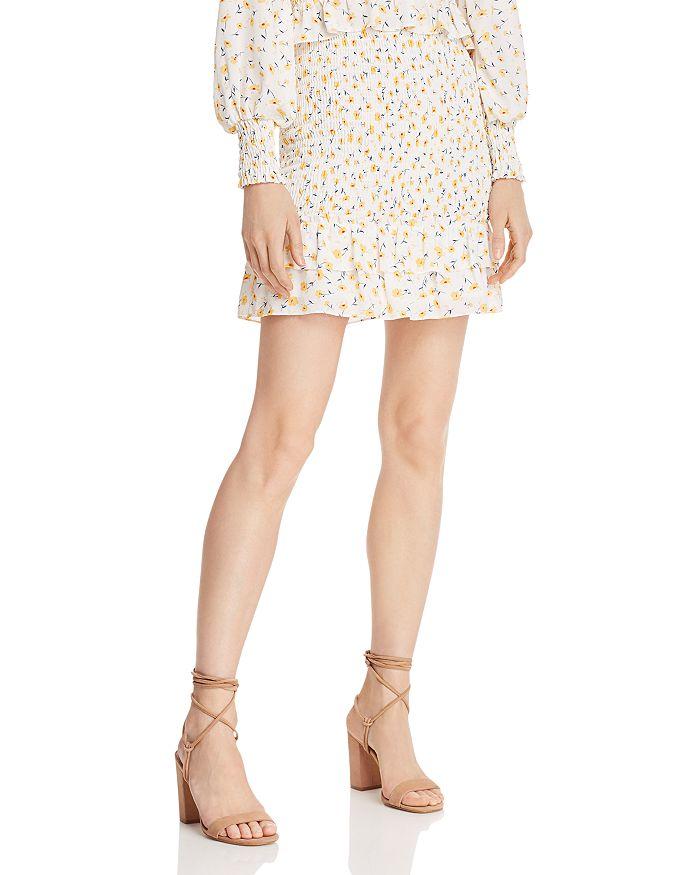 AQUA - Floral Smocked Skirt - 100% Exclusive
