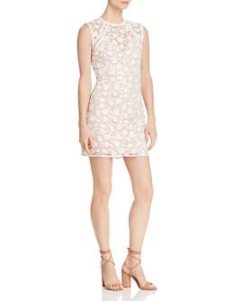 AQUA - Embroidered Sheath Dress - 100% Exclusive