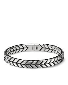 David Yurman - Sterling Silver Chevron Woven Bracelet