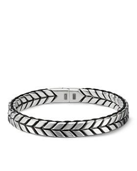 83d476a93e59 David Yurman - Sterling Silver Chevron Woven Bracelet ...