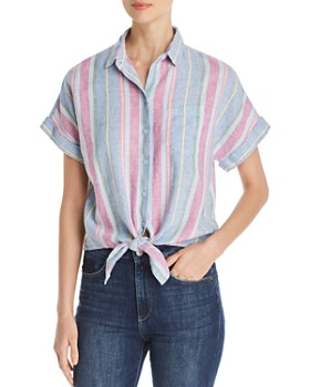 6ce0f2a69a BeachLunchLounge - Tie-Front Shirt ...