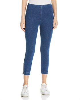 Lyssé - Cropped Ankle-Zip Denim Leggings