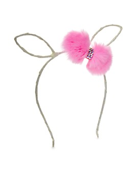 GiGi - Girls' Bunny Headband with Fur Pom-Poms - 100% Exclusive