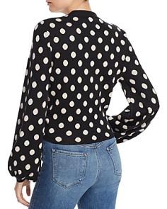 leRumi - Freya Polka-Dot Button-Front Sweater