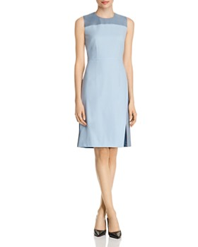 786d09e2997 BOSS - Doreli Virgin Wool Sleeveless Sheath Dress ...