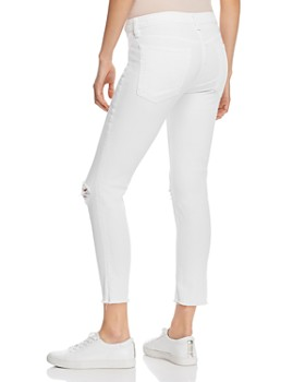 rag & bone - Dre Distressed Ankle Slim Boyfriend Jeans in White