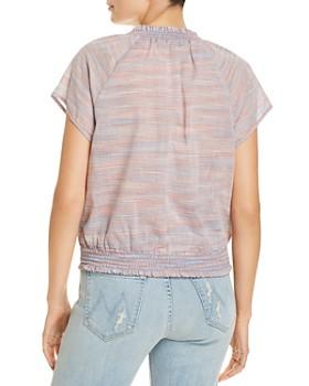 Bella Dahl - Striped Raglan-Sleeve Blouse