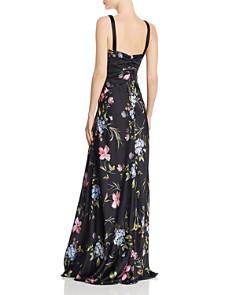 Jill Jill Stuart - Floral Satin Gown