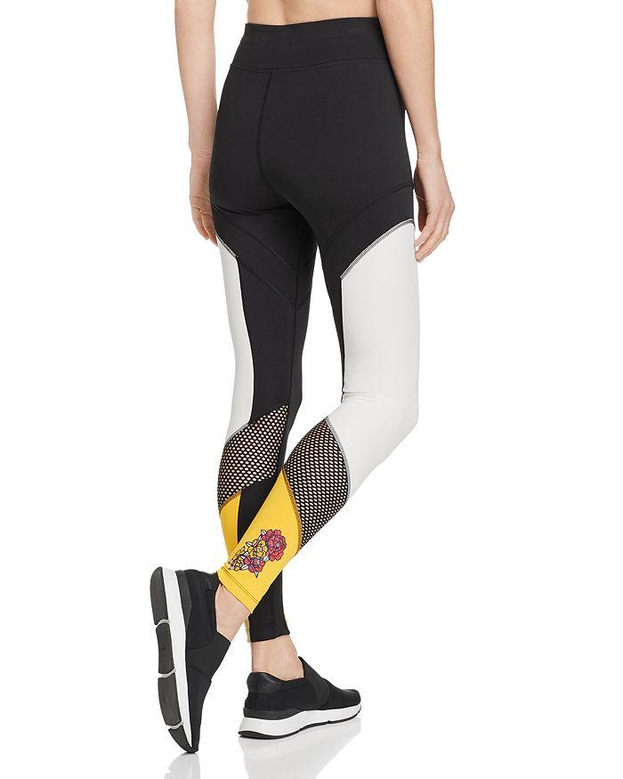 eb514dd7 Flourish Color-Block Mesh-Inset Leggings