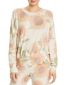 LNA - Duncan Brushed Sunflower Print Sweatshirt