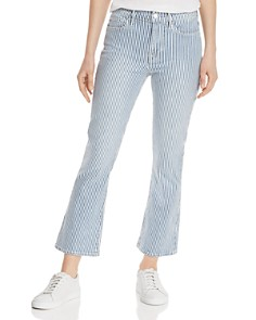 FRAME -  Engineer-Stripe Cropped Mini Boot Jeans in Normandie