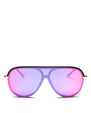 Quay Sunglasses X JLO EMPIRE SHIELD AVIATOR SUNGLASSES, 57MM