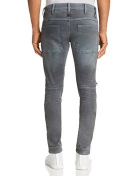 G-STAR RAW - 5620 3D Knee-Zip Skinny Jeans in Dark Aged Cobler