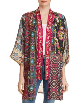 07467fe160e Johnny Was - Emilia Mixed-Print Silk Kimono - 100% Exclusive ...