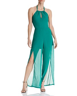 GUESS - Yazmine Flyway Halter Jumpsuit