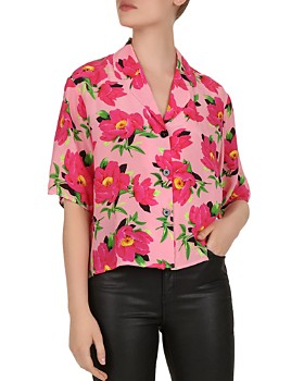 2957c4de37193 The Kooples - Pivoine In Love Floral-Print Silk Shirt ...
