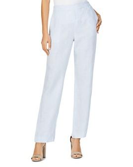 Foxcroft - Livingston Striped Linen Pants