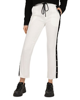 4523a9efc79911 The Kooples - Cropped Side-Snap Band Pants ...