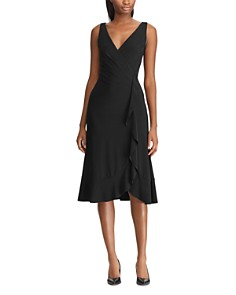 Ralph Lauren - Faux-Wrap Jersey Dress
