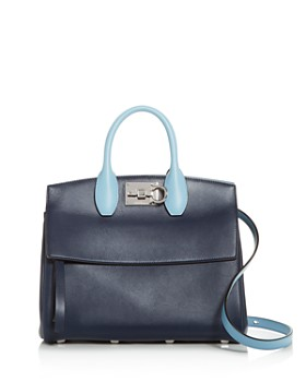 d114daea8e3a Salvatore Ferragamo - Small Studio Color-Block Leather Satchel ...