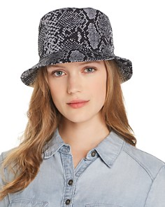 AQUA - Snake Print Bucket Hat - 100% Exclusive