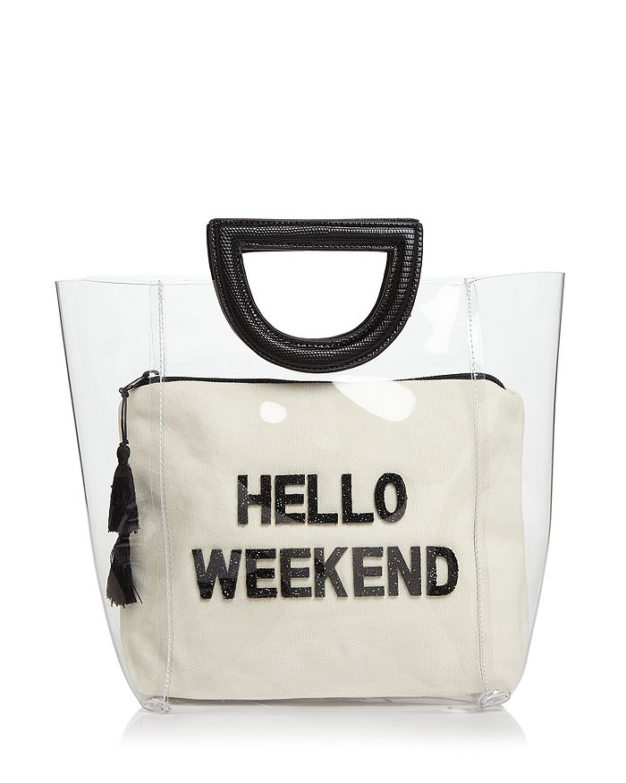Fallon & Royce - Clear Tote with Waterproof Canvas Pouch