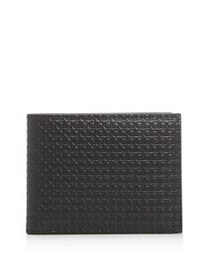 Salvatore Ferragamo - Mini Gancini Embossed Leather Bi-Fold Wallet