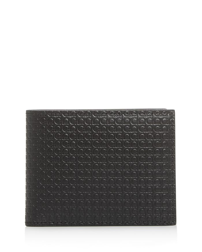 Salvatore Ferragamo - Mini Gancini Embossed Leather Bi-Fold Wallet