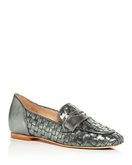 Joan Oloff - Women's Lala Woven Apron-Toe Loafers