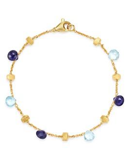 Marco Bicego - 18K Yellow Gold Paradise Iolite & Blue Topaz Beaded Bracelet - 100% Exclusive