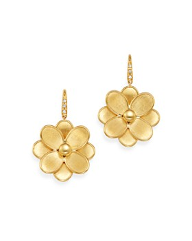 Marco Bicego - 18K Yellow Gold Petali Diamond Flower Drop Earrings