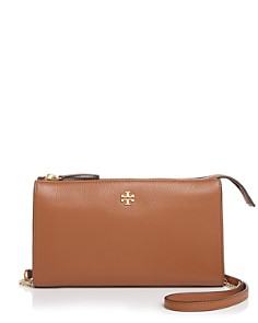 Tory Burch - Pebbled Top-Zip Crossbody