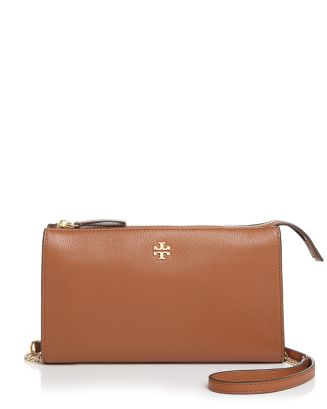 Pebbled Top Zip Crossbody by Tory Burch