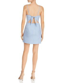 FRENCH CONNECTION - Whisper Tie-Back Gingham Mini Dress - 100% Exclusive