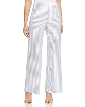 DKNY - Striped Wide-Leg Pants