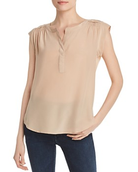 Daniel Rainn - Cap-Sleeve Silk Top