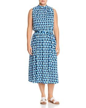 Leota Plus - Mindy Sleeveless Printed Midi Dress