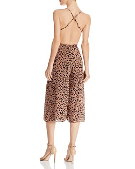 Fame and Partners - Open-Back Animal-Print Jumpsuit