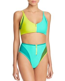CHROMAT - Mikito Color-Block Zip Bikini Top & Mikito Color-Block Zip Bikini Bottom