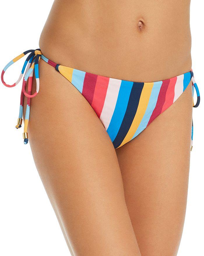Shoshanna - Clean Triangle Rainbow Stripe Bikini Bottom