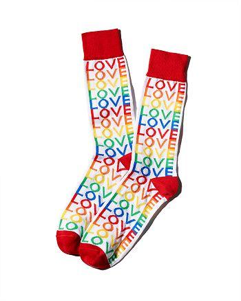 The Men's Store at Bloomingdale's - Pride Rainbow Love Socks - 100% Exclusive