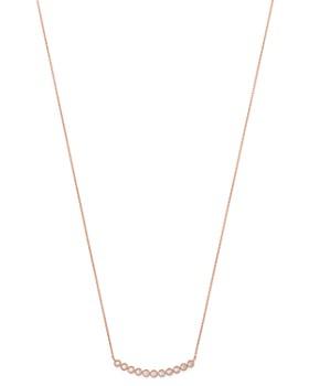 Bloomingdale's - Diamond Milgrain Bar Necklace in 14K Rose Gold, 0.25 ct. t.w. - 100% Exclusive