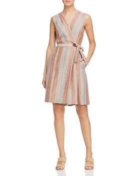 Lafayette 148 New York - Oaklyn Striped Linen Jumpsuit