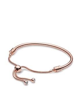 Pandora - Rose Gold Tone-Plated Sterling Silver & Cubic Zirconia Bracelet