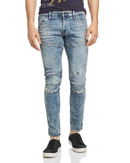 G-STAR RAW - 5620 3D Zip-Knee Skinny Fit Jeans in Light Vintage Aged