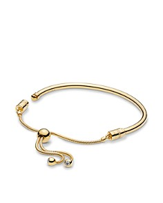 Pandora - Gold Tone-Plated Sterling Silver & Cublc Zirconia Shine Bracelet
