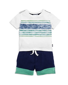 624a3ebb Splendid - Boys' Reverse-Stripe tee & Board Shorts Set - Baby ...