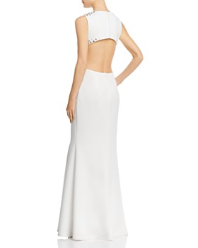 Avery G - Embellished Cutout Scuba Gown