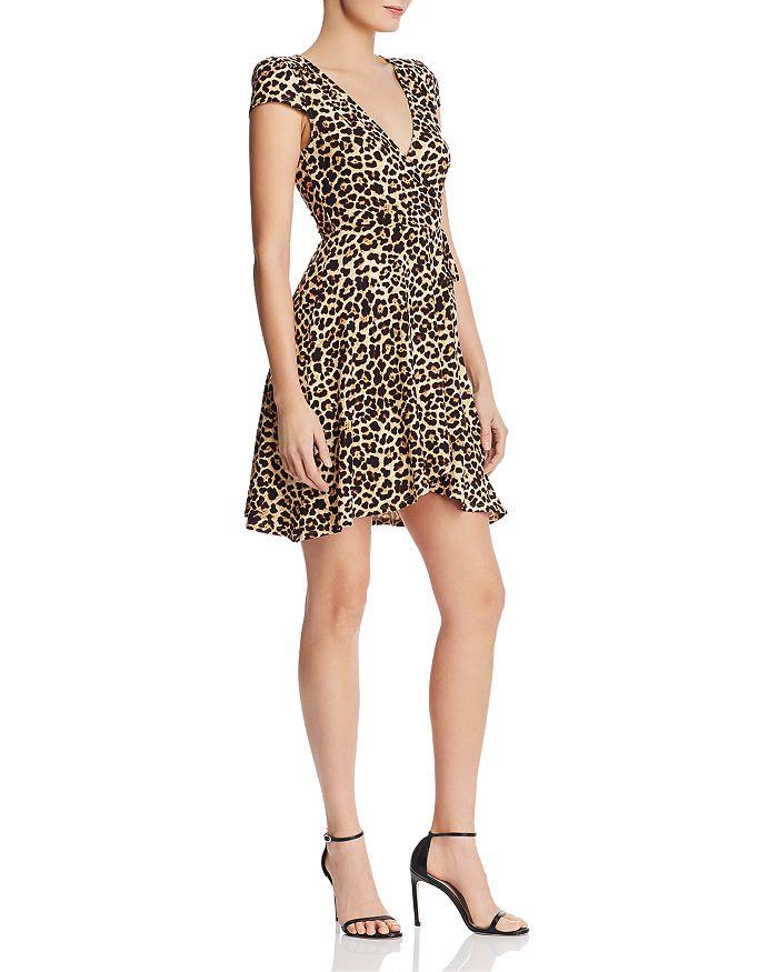 AQUA - Leopard-Print Knit Wrap Dress - 100% Exclusive