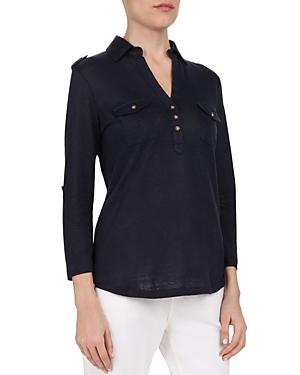Gerard Darel Verena Military-Inspired Linen Shirt